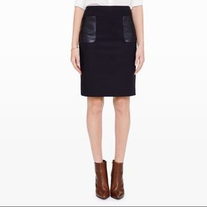 Club Monaco | Nadine pencil skirt leather pockets